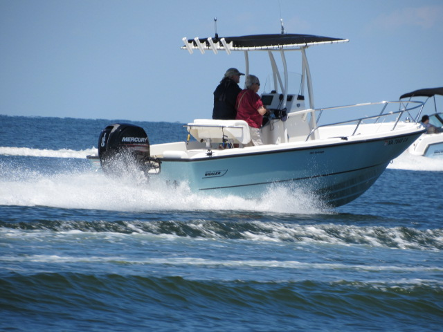 Boston Whaler 190 Outrage owned by Bill & Joyce Werner